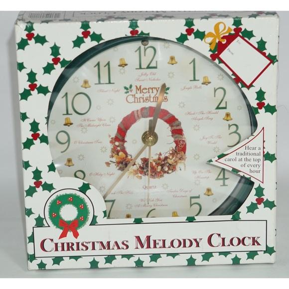Feldstein Holiday Christmas Clock Melody Wall Clock Poshmark
